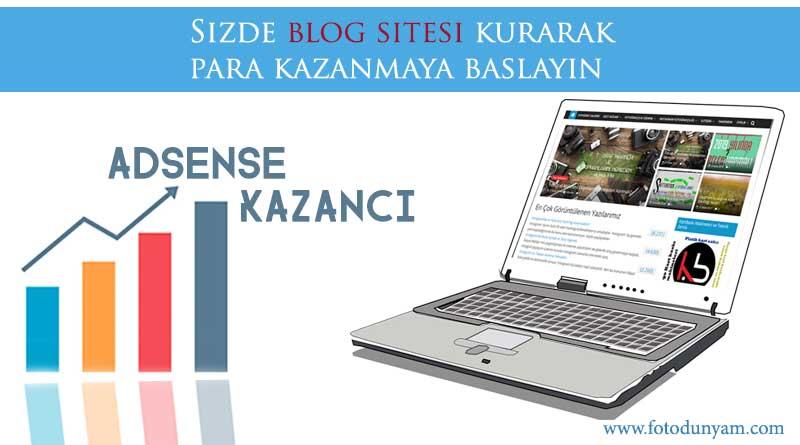 Blog Sitesi Açarak Para Kazanma