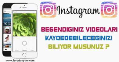 Instagramda İzlediğiniz Videoları Kaydetme?